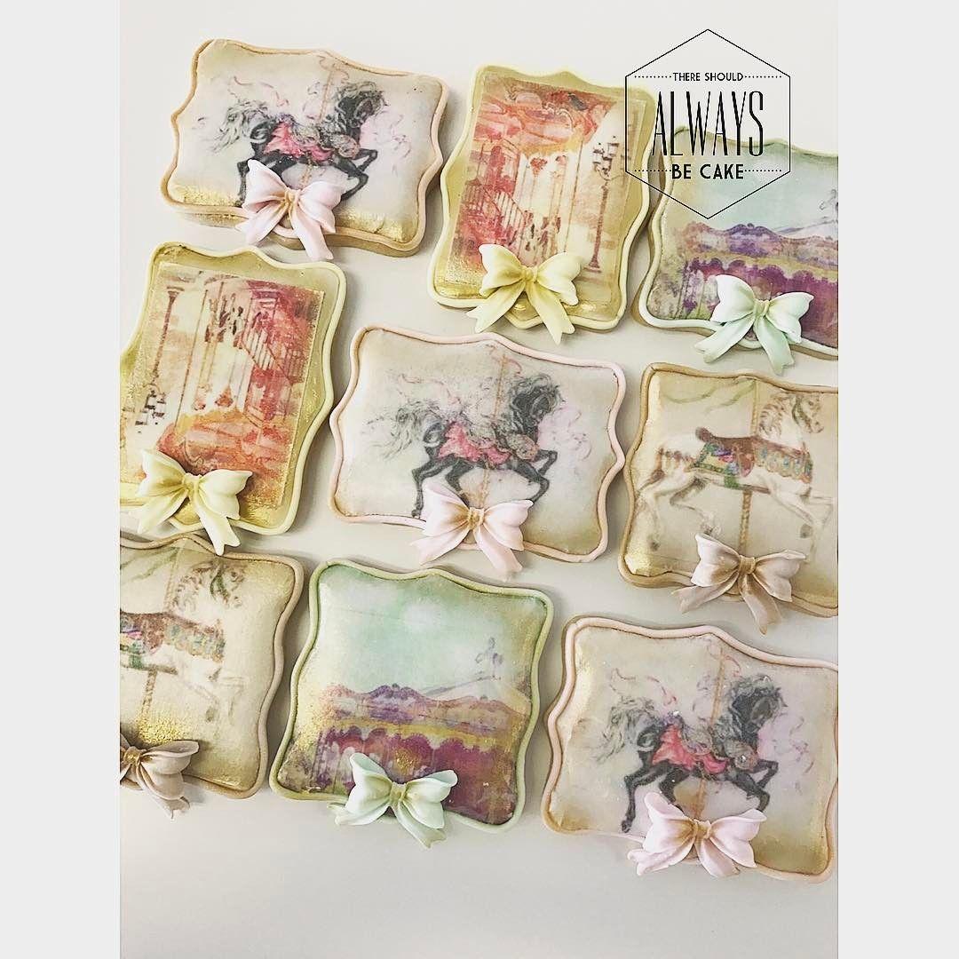 Vintage Carousel Sugar Cookies