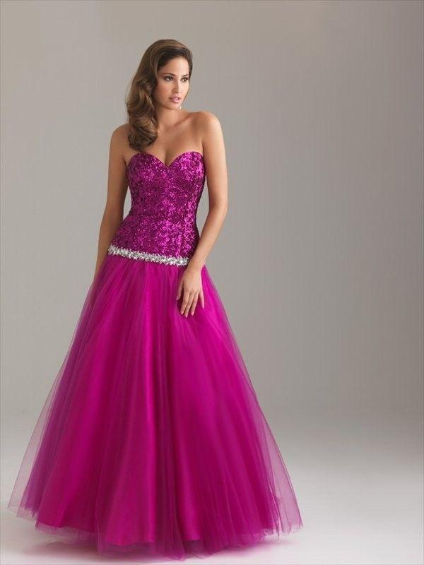 Cheap Sweetheart Paillette Sleeveless Floor-length Chiffon Prom ...