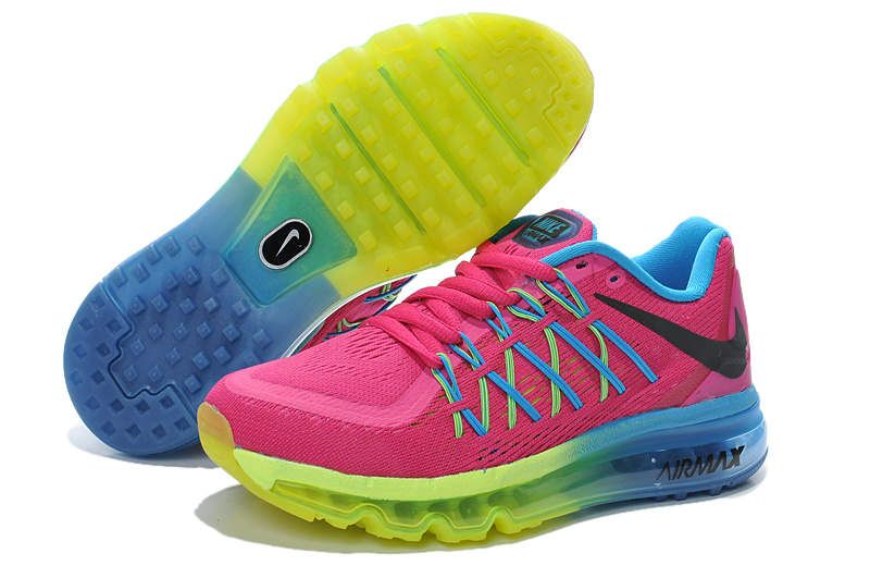 Nike Air Max 2015 Women Pink sky blue green fluorescence
