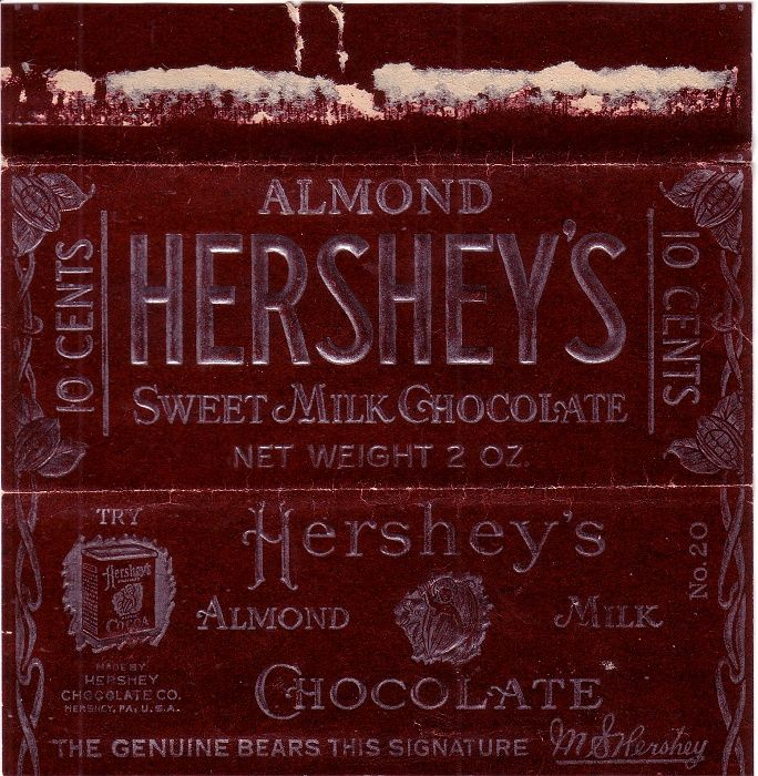 1920s Almond Hersheys Candy Wrapper | package design | Pinterest ...