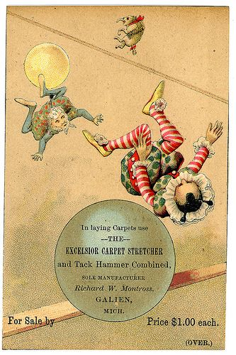 Trade Card for carpet stretcher and tack hammer | Flickr - Photo Sharing!