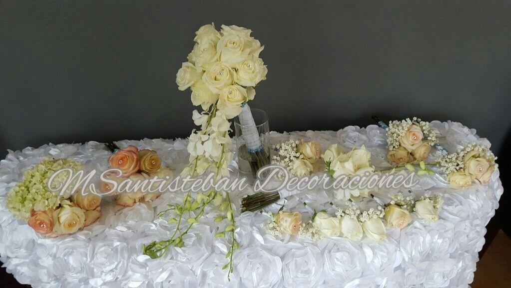 Flores séquito boda