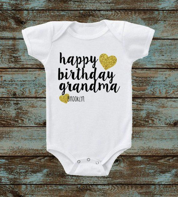 Happy Birthday Daddy Mommy Grandpa Grandma Bodysuit