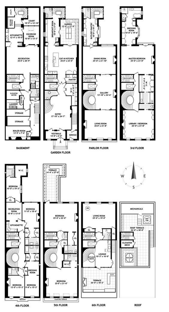 Historic Upper West Side Mansion Near Central Park Seeks 100k Month Curbed Nyclockmenumor Architectural Floor Plans Mansion Floor Plan Apartment Floor Plans