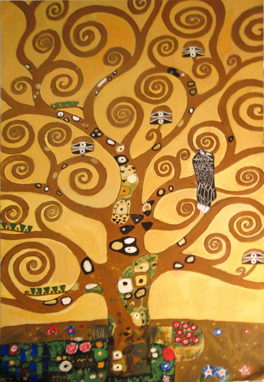 Gustav Klimt Arbre De Vie : gustav, klimt, arbre, L'arbre, SAÉ-art, Arbre, Gustav, Klimt,, Dessin