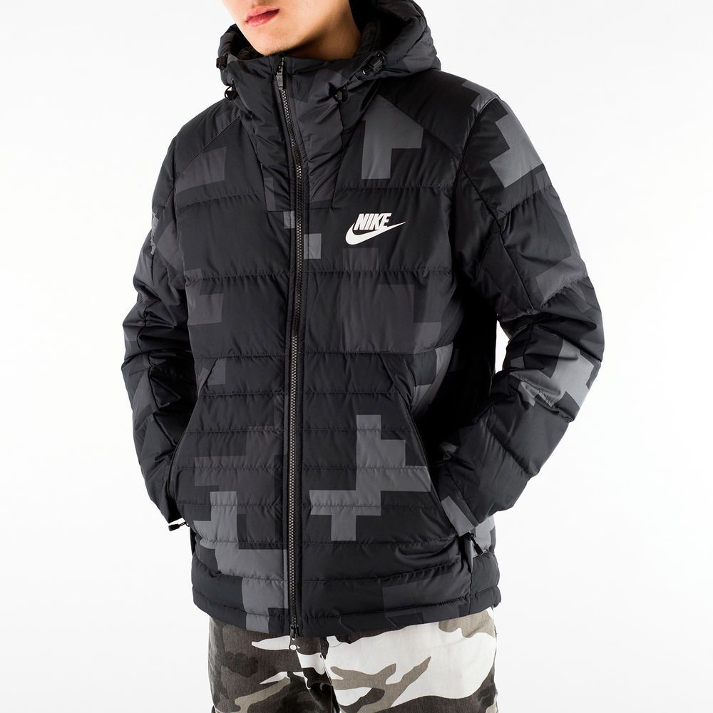 ab88e93c2cfdc NIKE MENS NSW DOWN FILL HOODED ARCTIC WINTER CAMO JACKET LARGE ...