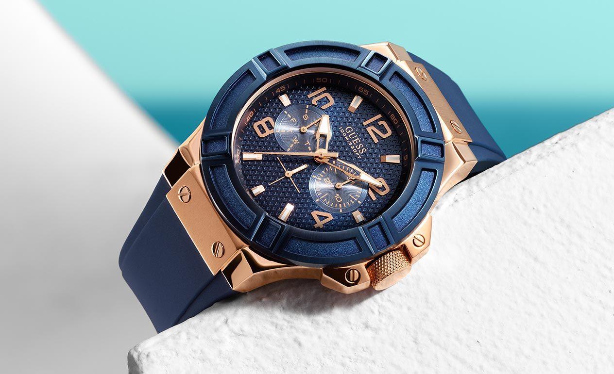Rellotge Guess Blue Watch Sha Pinterest Watches For Jam Tangan Wanita Fossil Original Es4093 Perfect Boyfriend