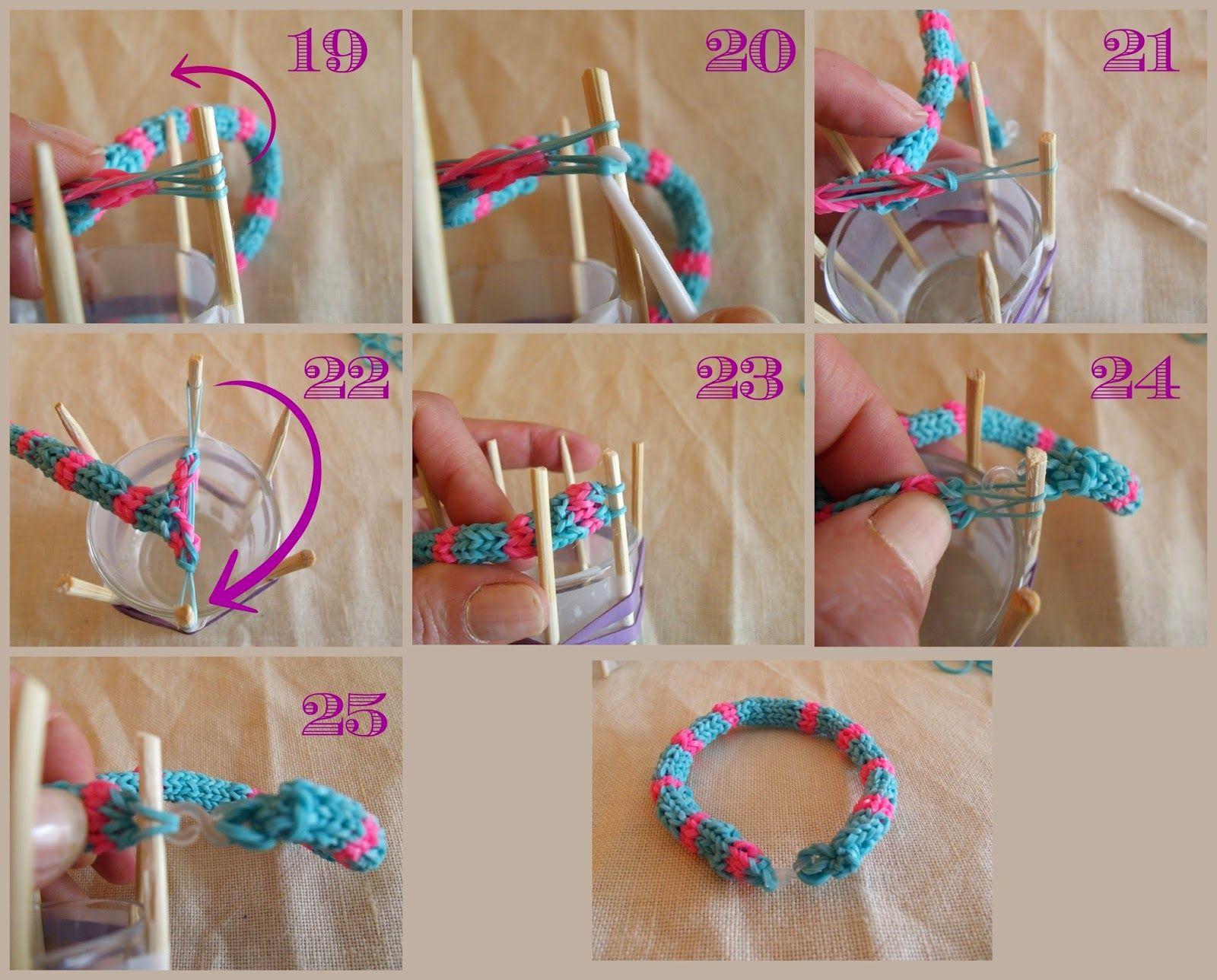 Картинки как делать браслеты из резинки