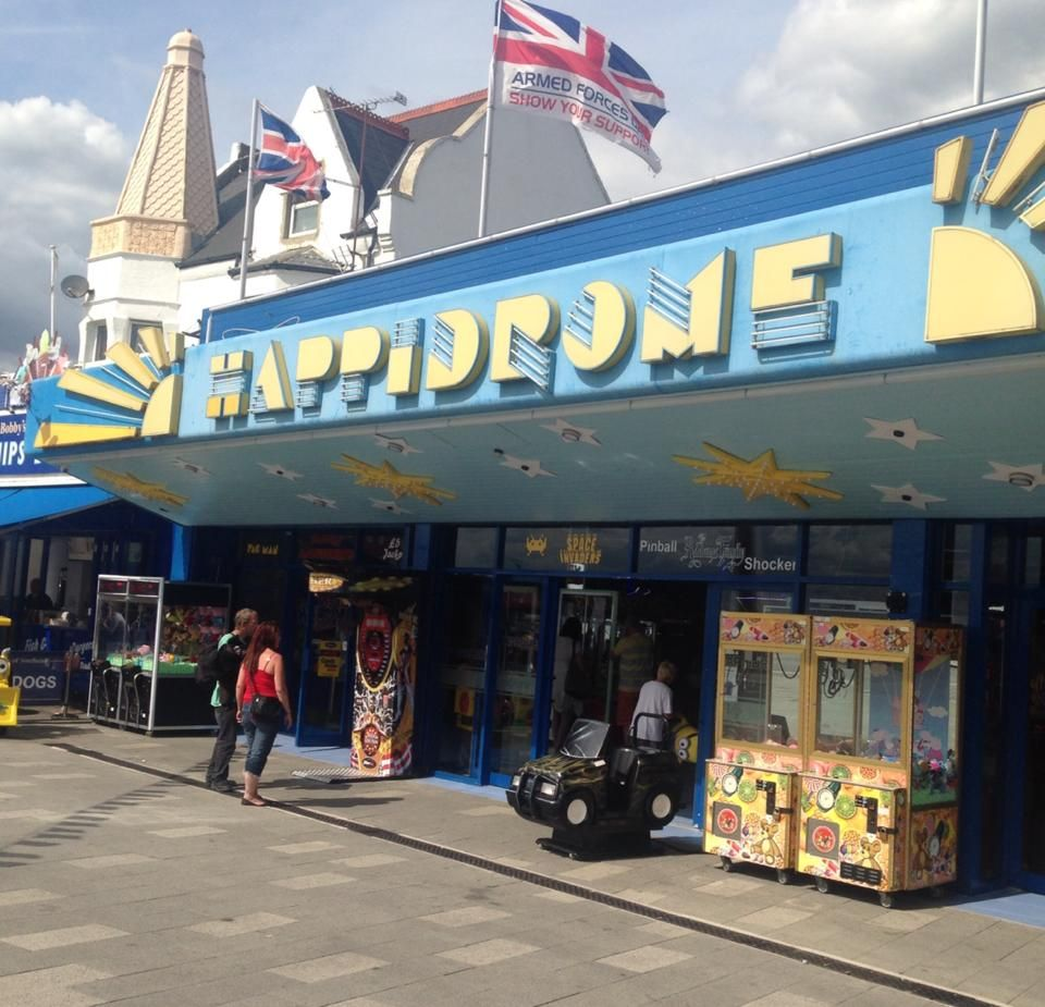 The Happidrome amusement arcade on the front in Southend-on-Sea in Essex. August 2014.
