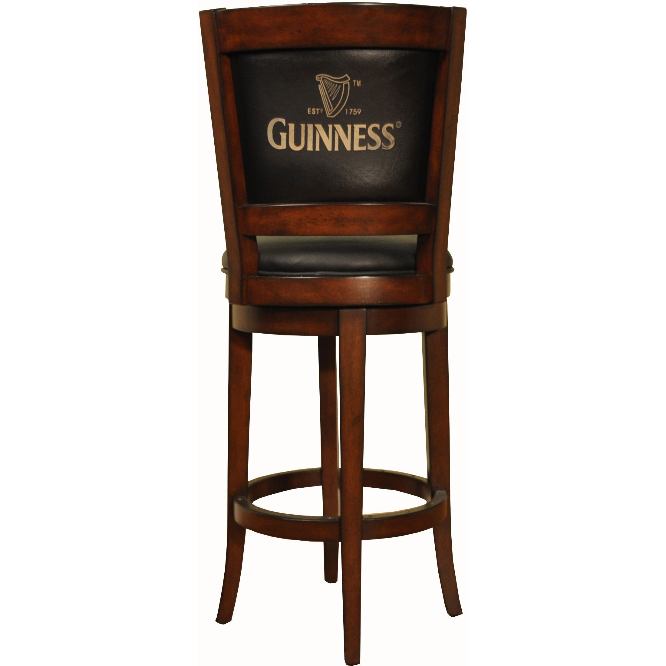 Coast Whitaker Furniture Guinness 30 Inch Armless Barstool Brown Leather