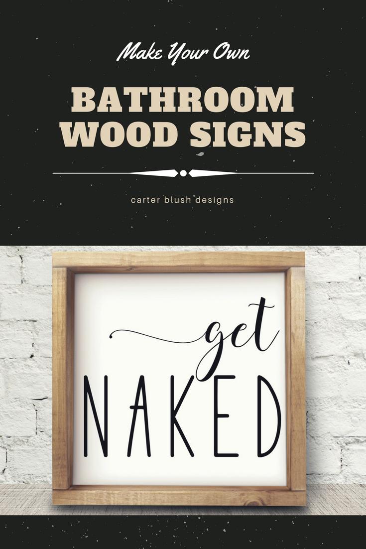 Bathroom Decor Diy Wood Signs Get Naked Small Bathroom Design