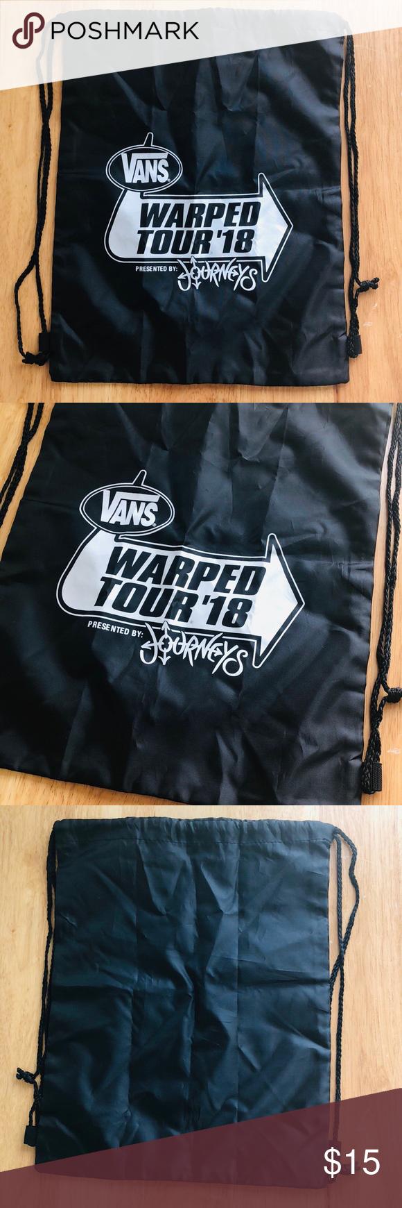 99312cdba5 Vans Warped Tour  18 Drawstring Bag Vans Warped Tour  18 Drawstring Bag New