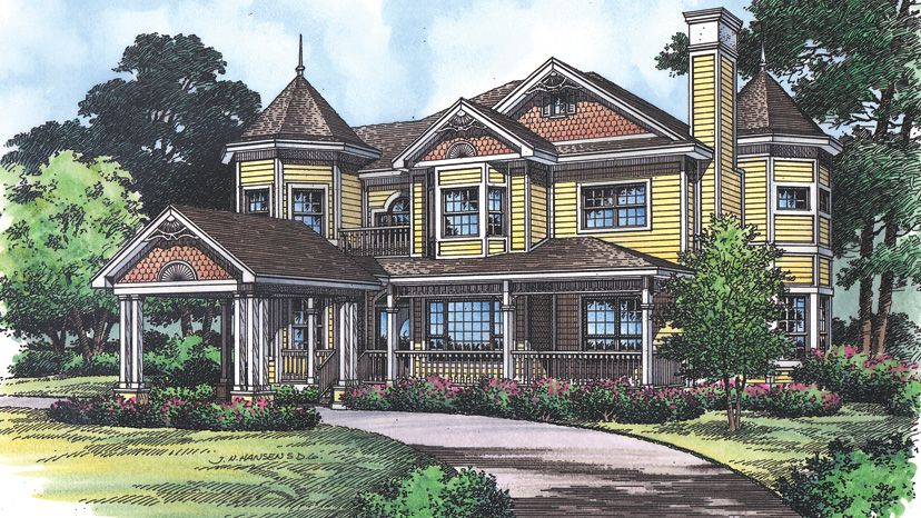 Architectural Styles Victorian House Plans Victorian Style Homes Victorian Homes