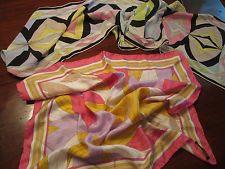 Vintage EMILIO PUCCI FUILIO Womens Ladies Silk Patterned Scarves