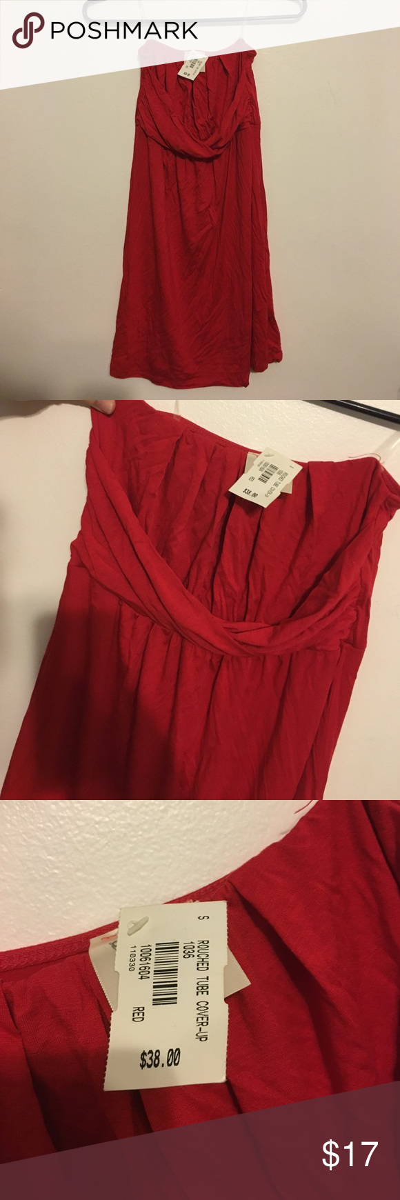 Red Coverup Red tube cover-up size small!! Could be worn as dress or cover up Dresses Strapless