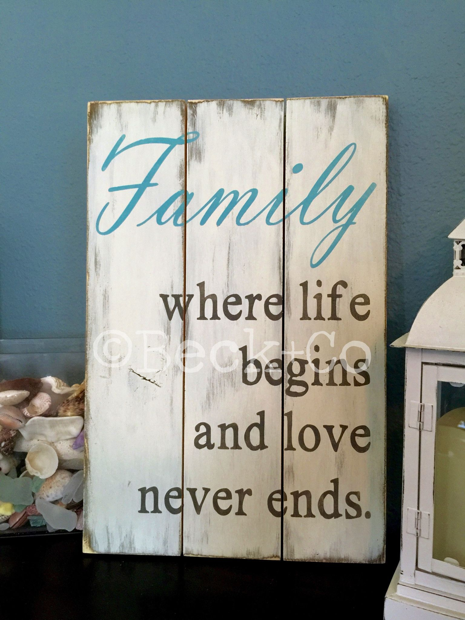 Family where life begins and love never ends favs pinterest