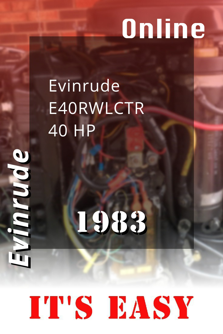 1983 E40rwlctr Evinrude 40hp Outboard Motor Repair And Maintenance Repair Manuals Outboard