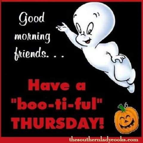 Vintage Halloween Casper Good Morning Greetings Good Morning Friends Autumn Quotes