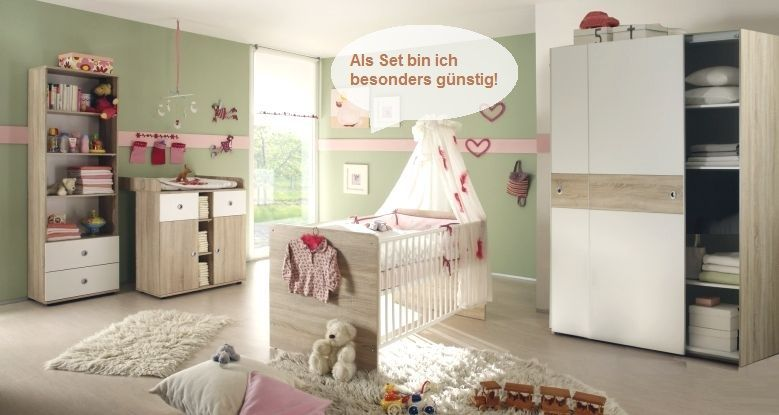 babyzimmer set s g nstig online kaufen babygirl zimmer baby kinderzimmer und kinder zimmer. Black Bedroom Furniture Sets. Home Design Ideas