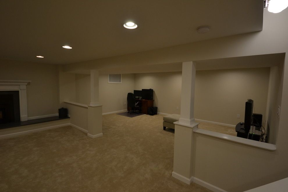 basement remodeling baltimore. idea for poles in basement main area remodeling, annapolis, md - traditional baltimore masters remodeling