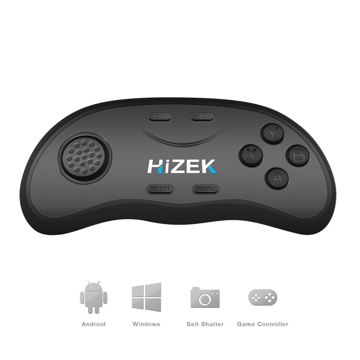 Hizek hz rc2 bluetooth remote controller wireless gamepads mouse hizek hz rc2 bluetooth remote controller wireless gamepads mouse music player for ios android pc sciox Choice Image