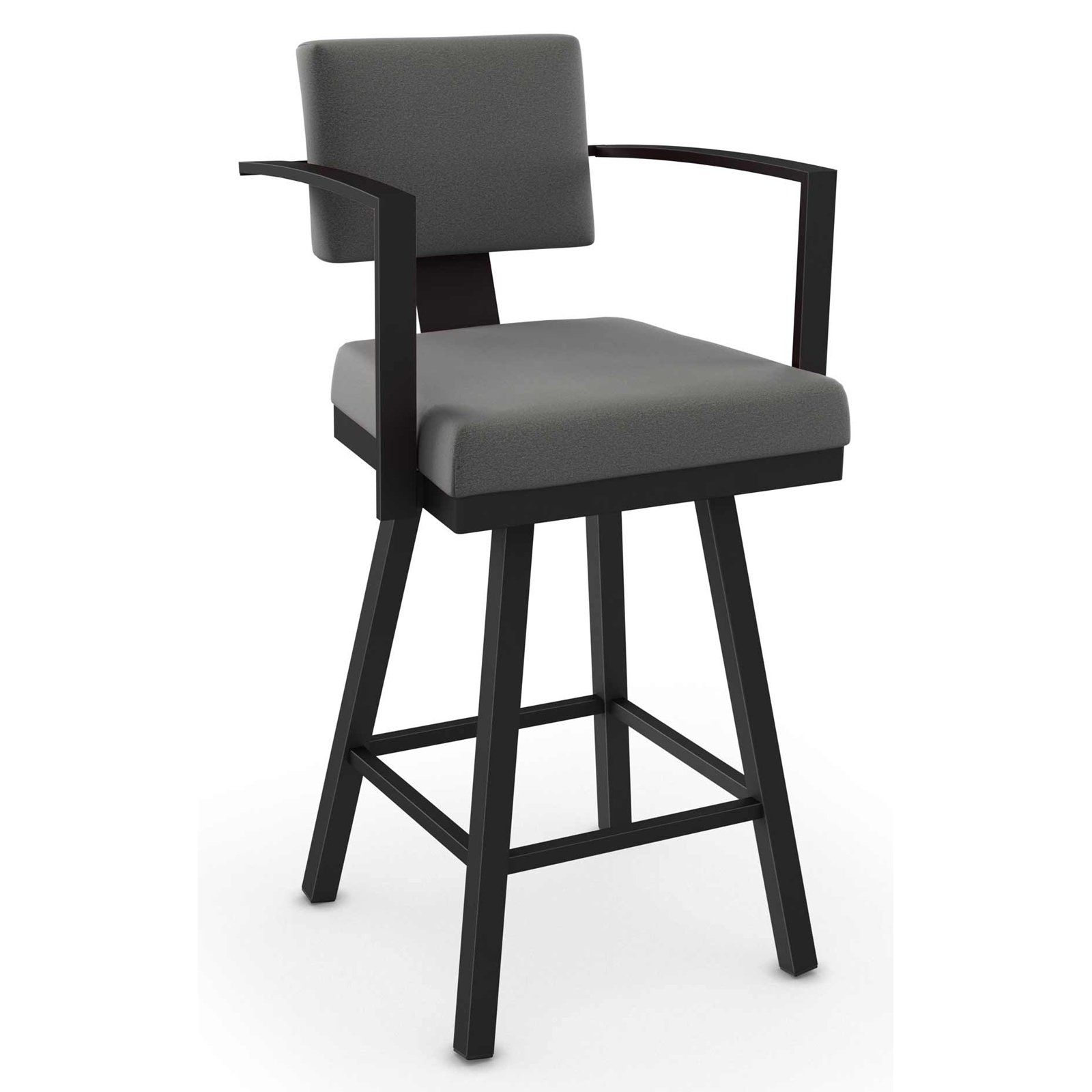 Strange Amisco Akers Swivel Bar Stool With Arms 30 In Products In Creativecarmelina Interior Chair Design Creativecarmelinacom