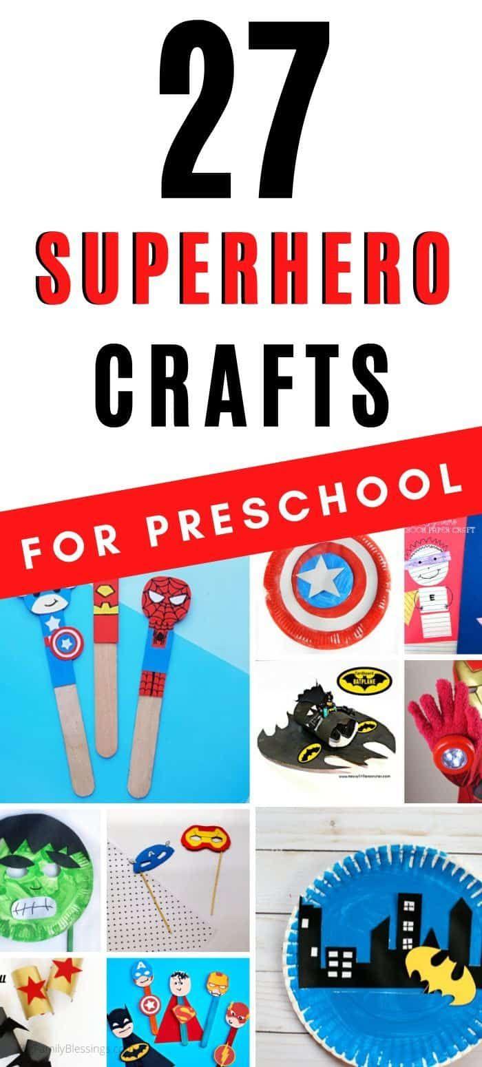 27 Superhero Crafts for Preschoolers