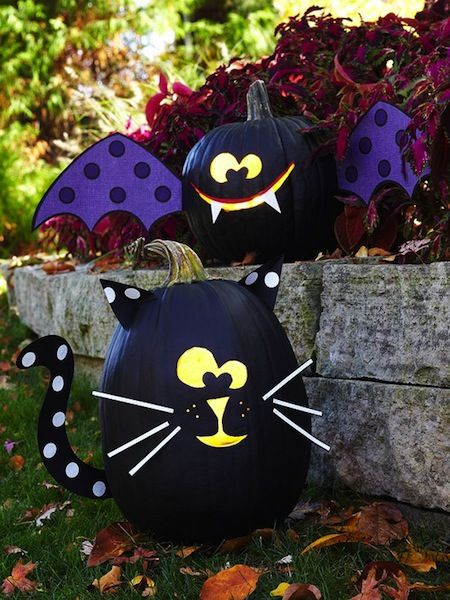 no carve pumpkin ideas for kids halloween decor Projects to Try - kids halloween party decoration ideas