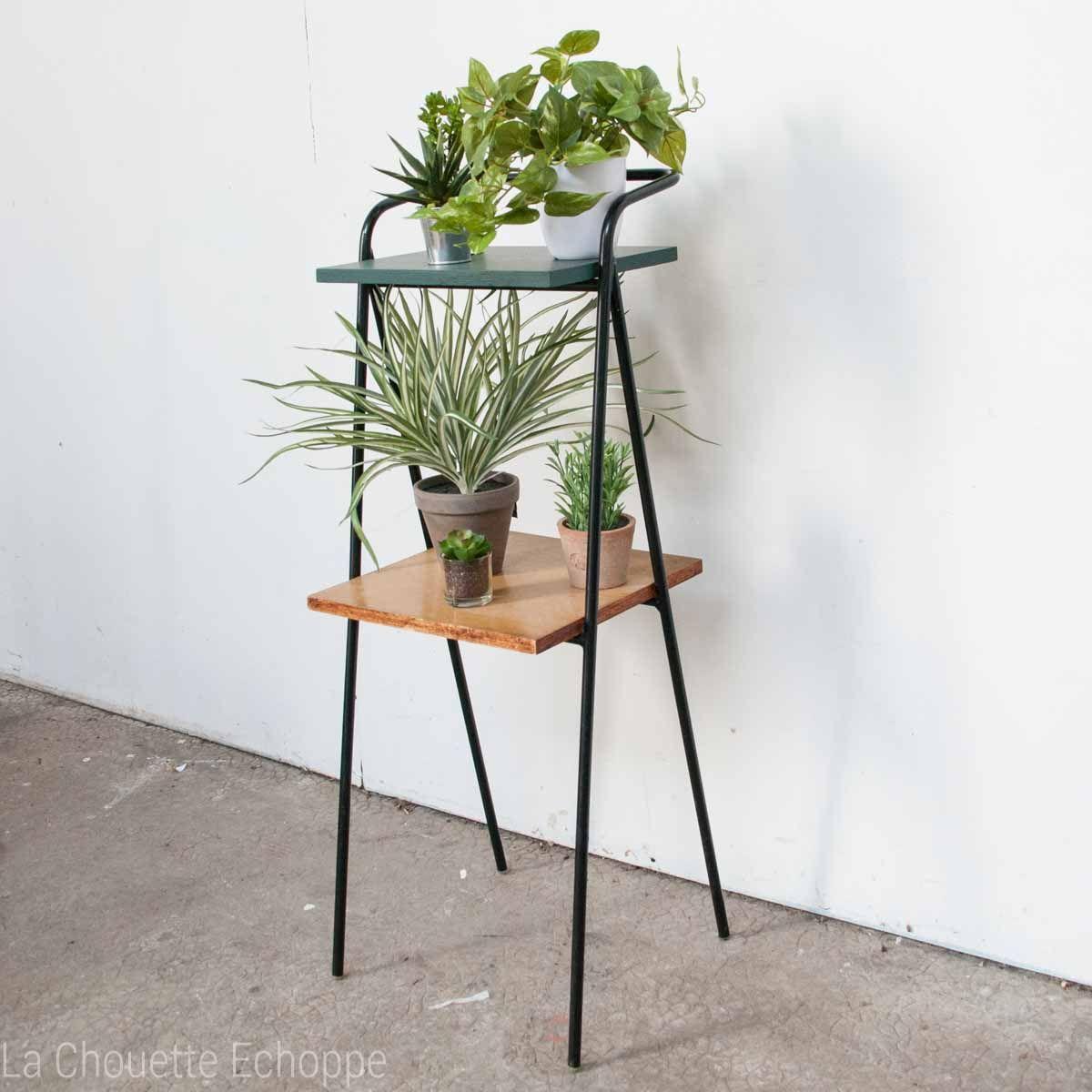 table d 39 appoint vintage des ann es 50 pour t l phone ou. Black Bedroom Furniture Sets. Home Design Ideas
