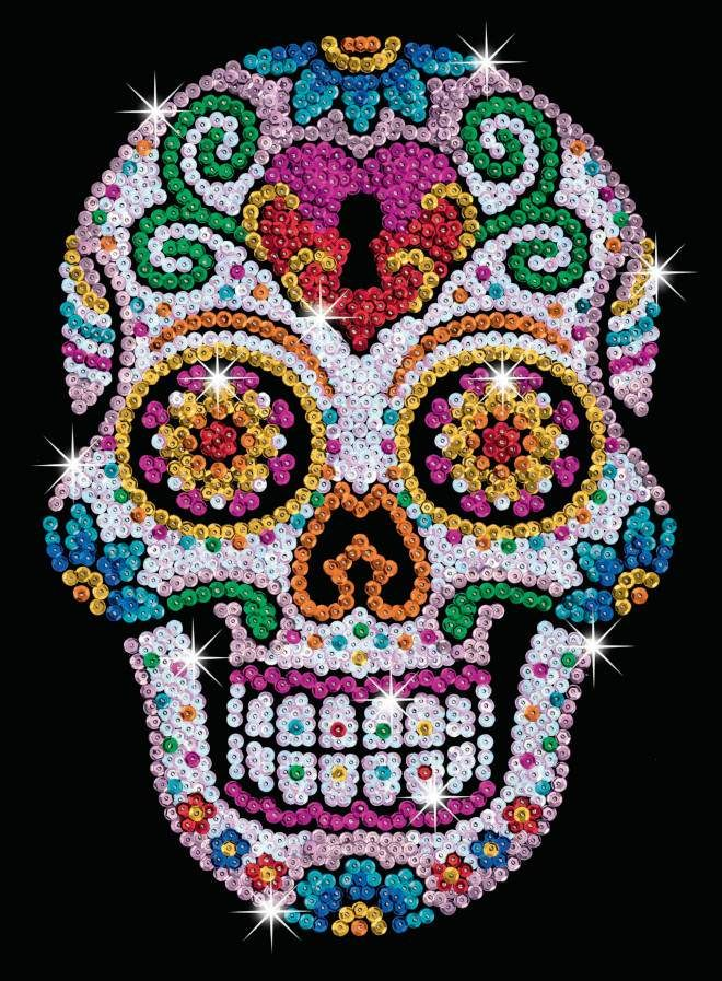 Get glitzy with the Sugar Skull from the Sequin Art Teen Craft Range. This very sparkly product inspired by Mexico's day of the dead creates a stunning stylish creation. You can sit back, relax and attach those glistening sequins easily to create stunning intricate patterns and beautiful colours of a Sugar Skull.