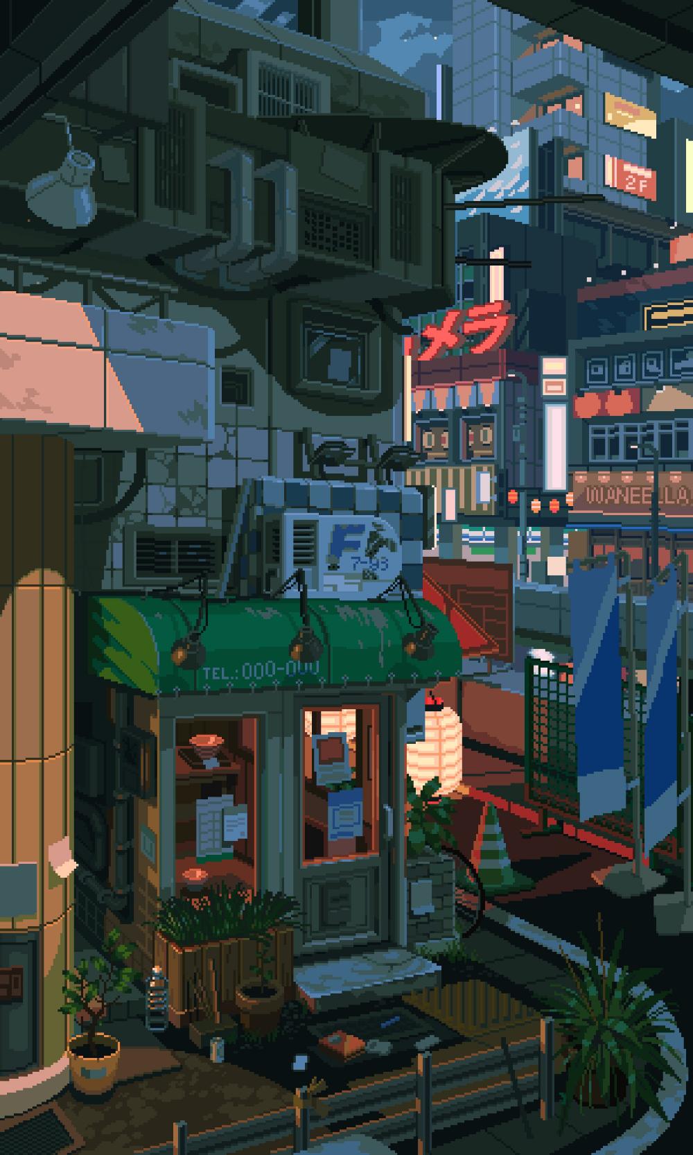 Waneella On Twitter Pixel Art Background Anime Scenery Wallpaper Scenery Wallpaper