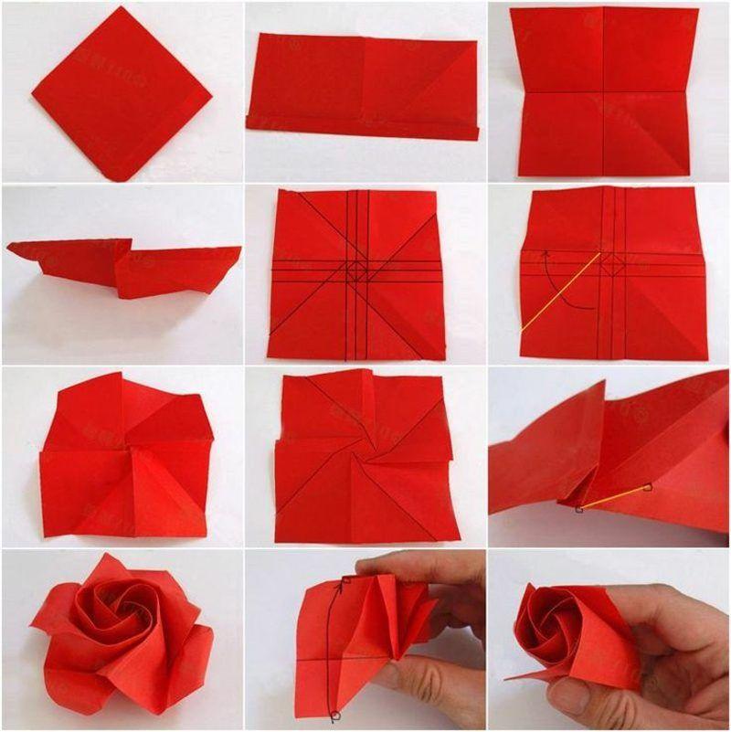 origami rose anleitung origami origami rose origami. Black Bedroom Furniture Sets. Home Design Ideas