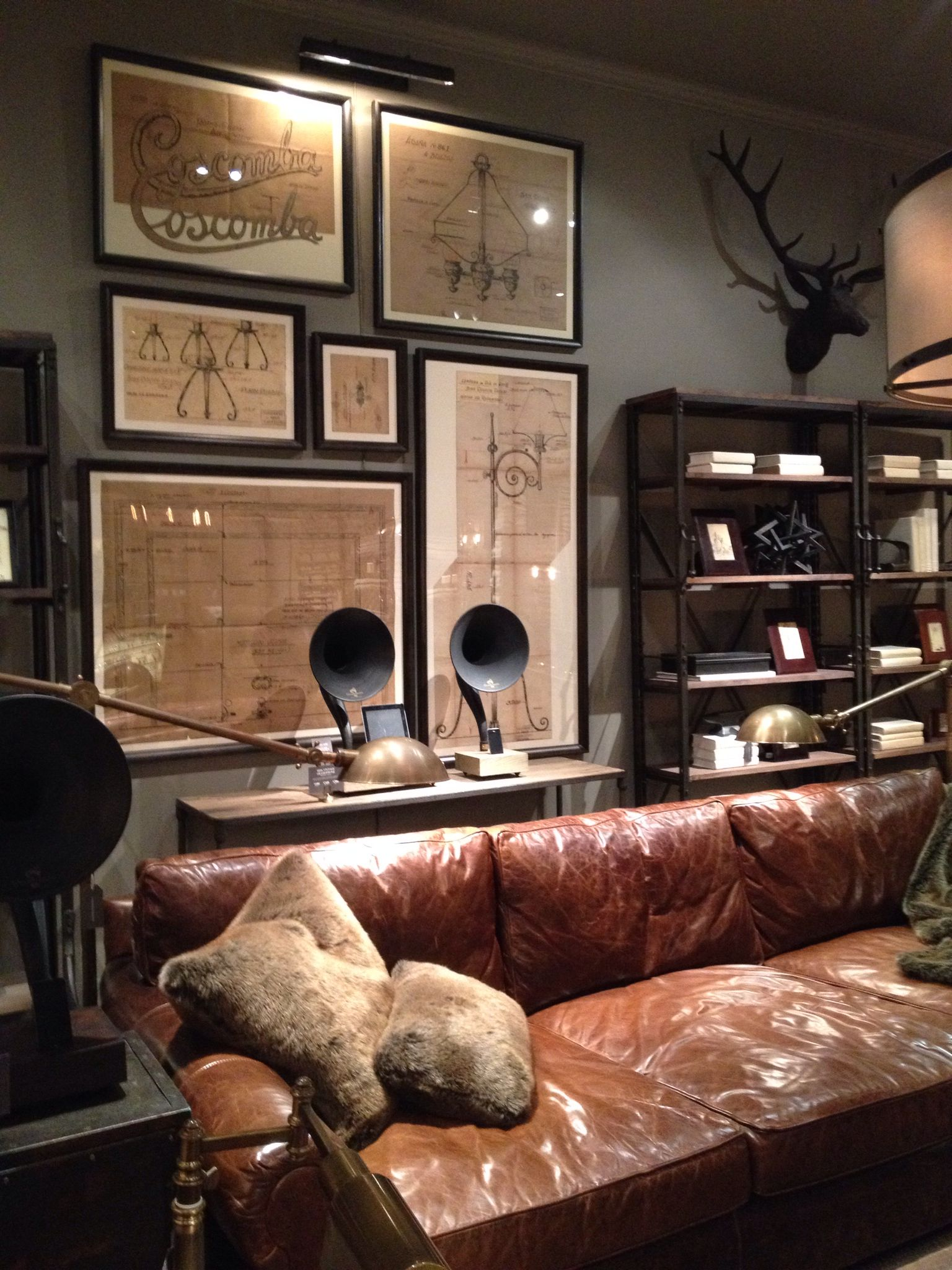 Restoration Hardware has my number.  Home office design, Home