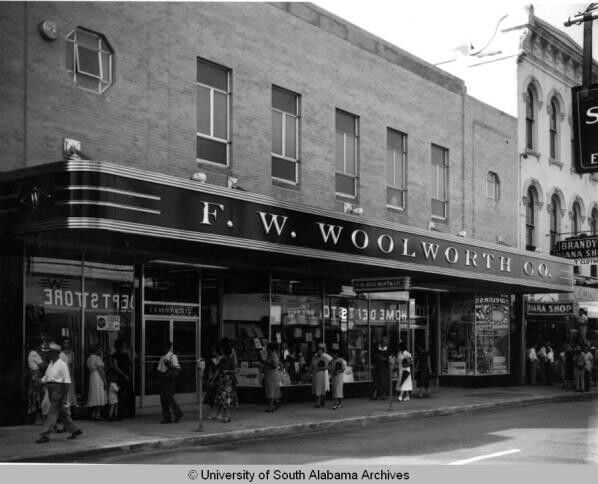 Woolworths on Dauphin St  Circa 1950, Mobile, AL my mothers