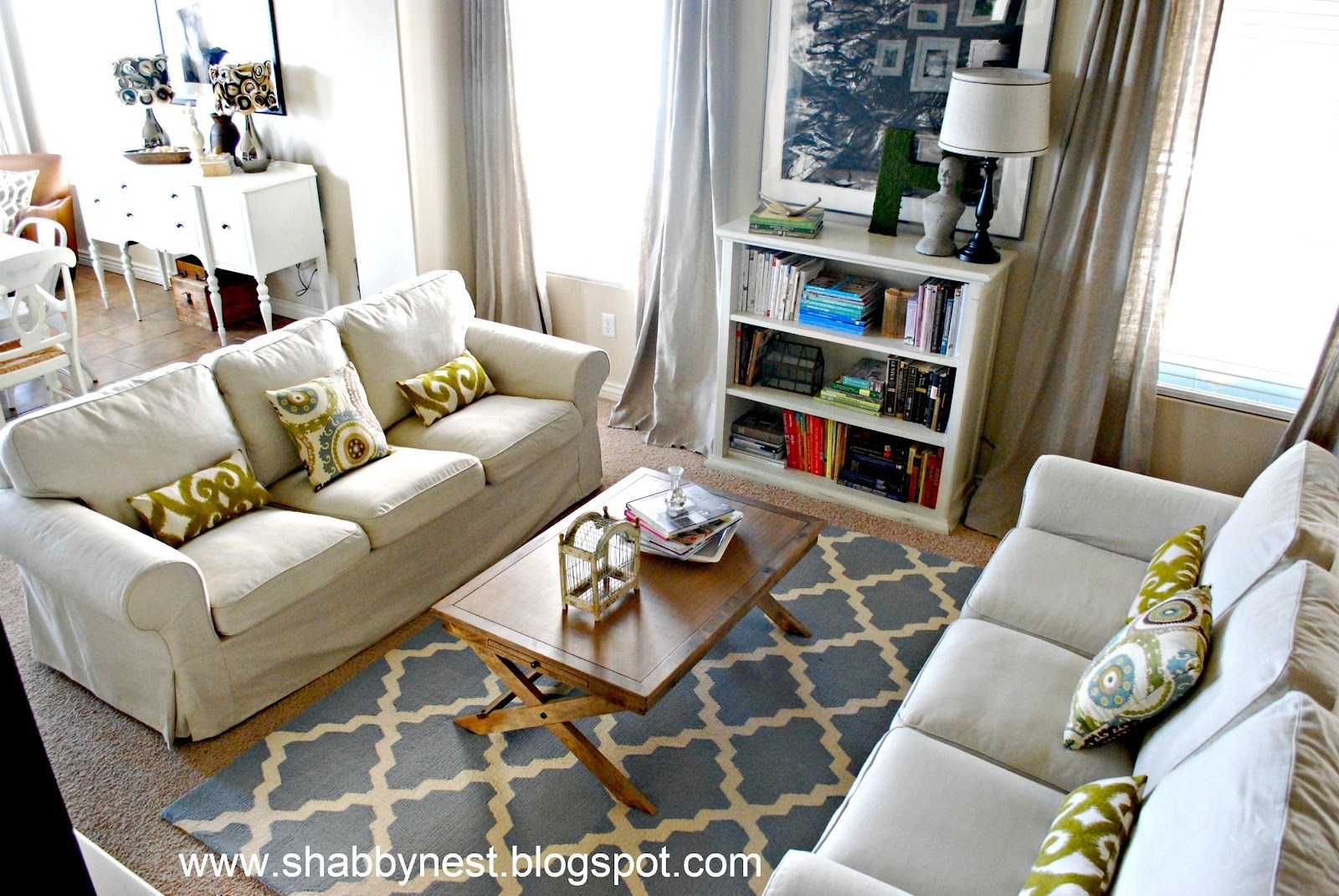 The Shabby Nest Living Room Spruce Up Reveal