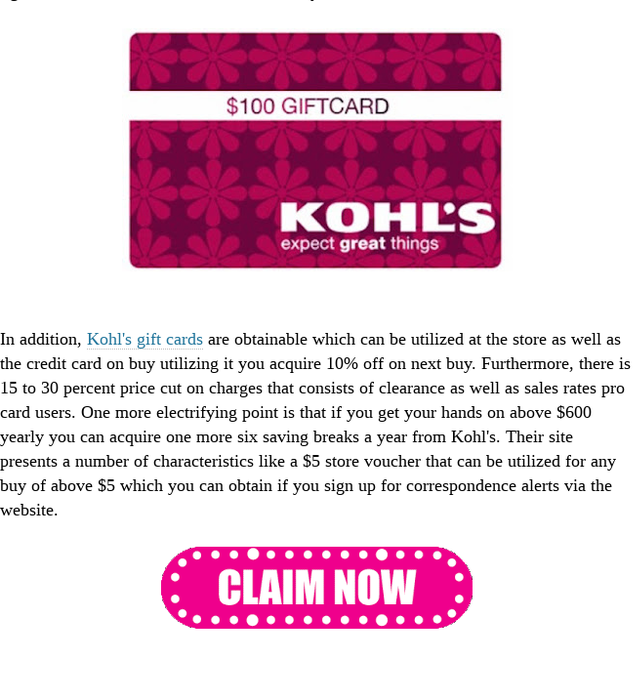 It Has Been Above 50 Years From The Time When Kohl S Departmental Stores Got Started And With The Passage Of Time They Have Gift Card Giveaway Gift Card Cards