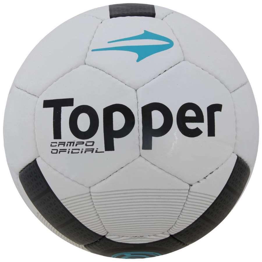 Bola Topper Strike Vi Campo Branca Preta Azul Futebol Azul