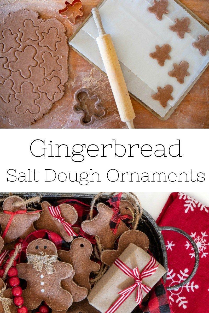 How To Make Ginger Bread Salt Dough Ornaments Cinnamon Salt Dough Diy Salt Dough Christmas Decorations Salt Dough Christmas Ornaments Gingerbread Salt Dough