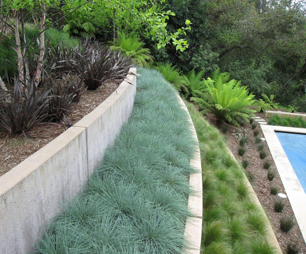 Concrete For Tiered Planter Landscaping Retaining Walls Backyard Grass Landscaping Modern Landscaping Modern landscape retaining wall