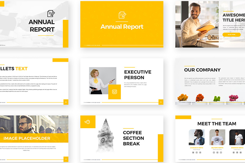 annual report ppt template 1 templates example powerpoint free design financial statement analysis pdf