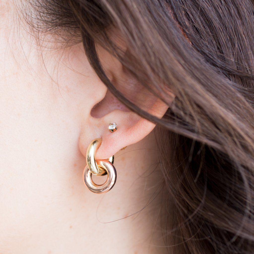 Double piercing ideas  Ear Climber Ear Crawler Gold Earrings Silver Earrings Ear Sweep