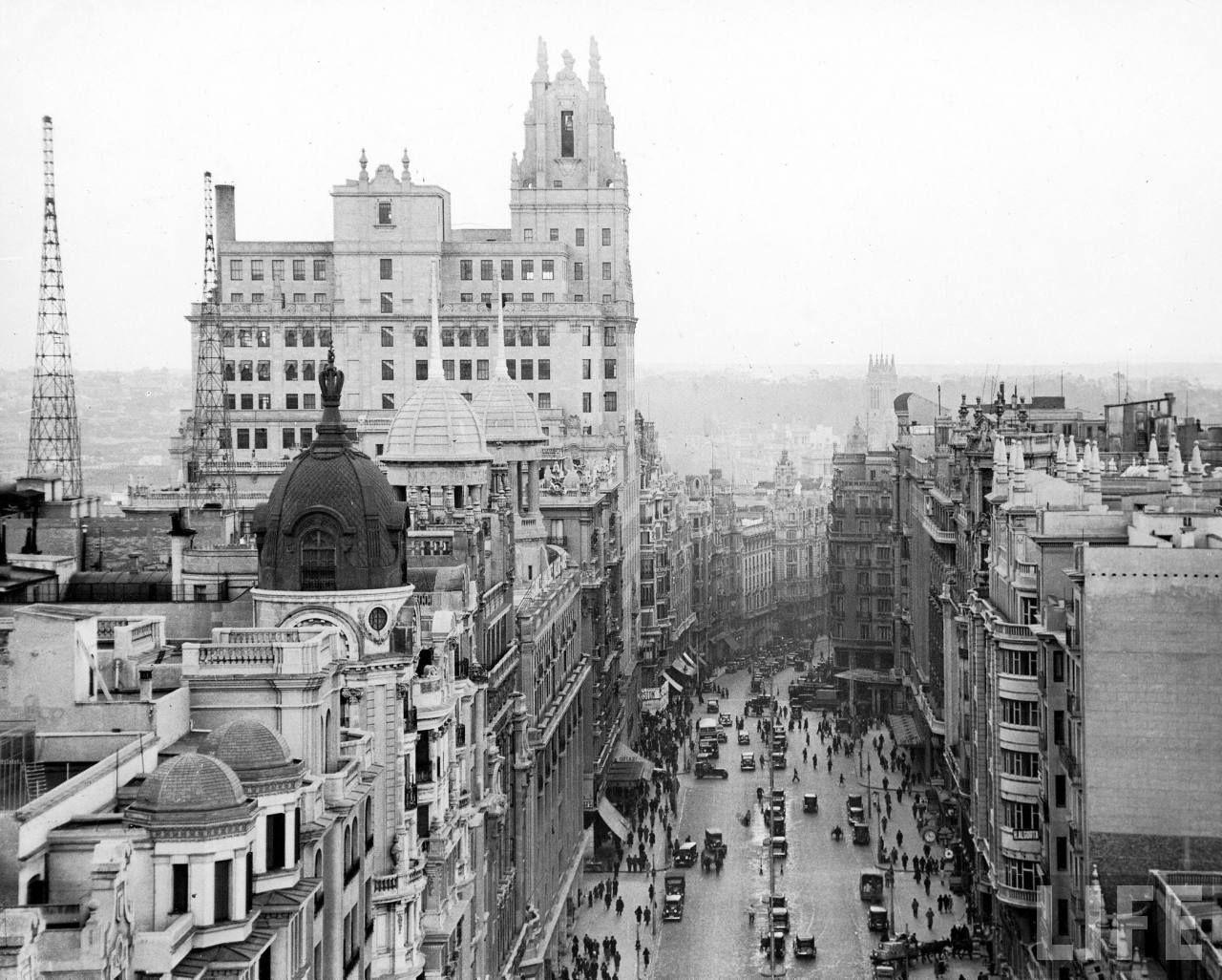 Madrid, años 50 desde la Gran Vía