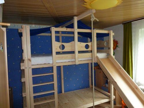 Kinderbett Etagenbett : Hochbett kinderbett etagenbett babybett abenteuerbett hochbetten