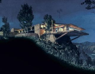 Matt Yuricich S Matte Painting Of The Cantilevered Vandamm House