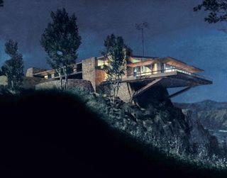 matt yuricich 39 s matte painting of the cantilevered vandamm. Black Bedroom Furniture Sets. Home Design Ideas