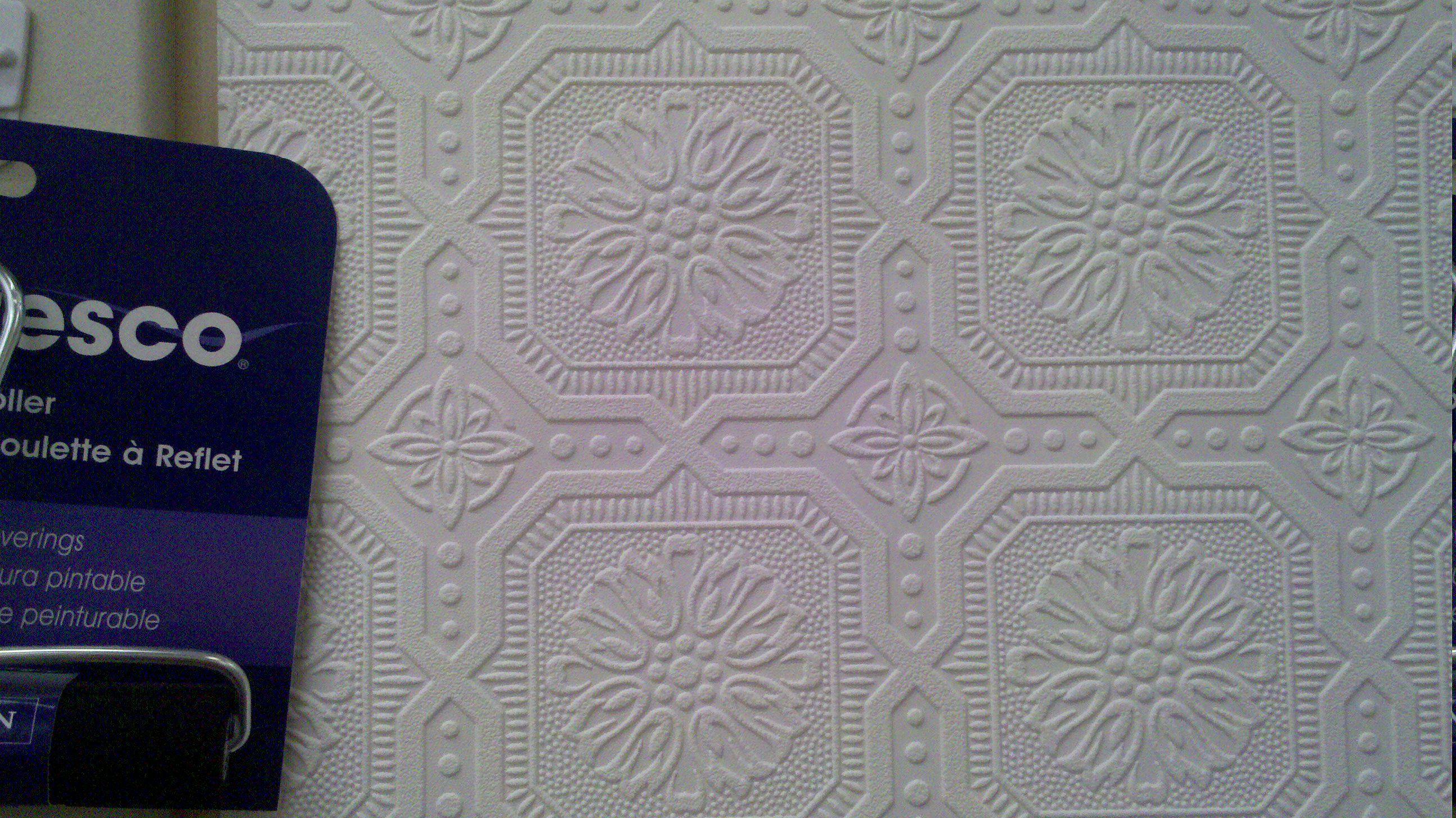 Egon Victorian Bold Texture White Vinyl Wallpaper