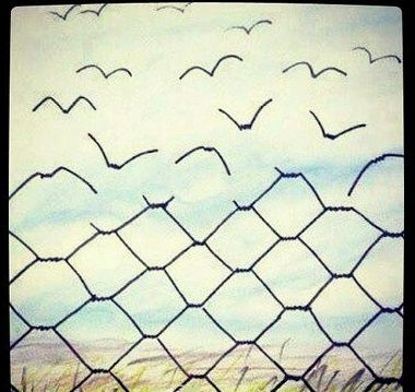 Wire Fence Tattoo