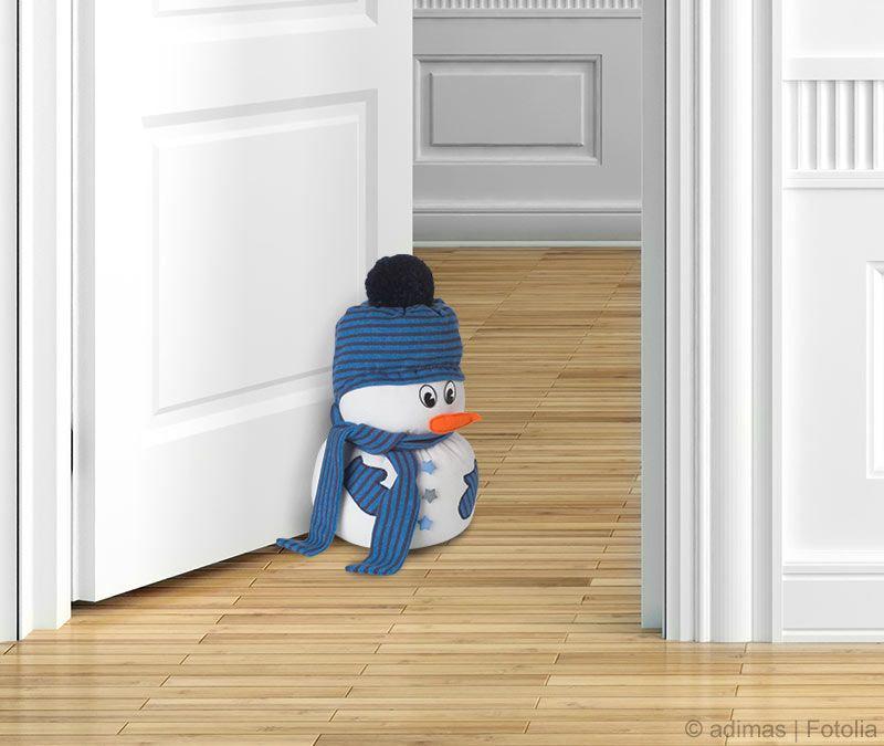 Kostenlose Anleitung: Schneemann als Türstopper nähen