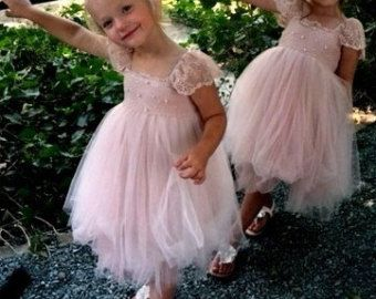 Blush color dresses for girls