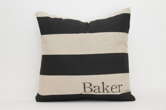 personalized pillow, family pillow, name pillow, wedding gift, fathers day gift - The Baker